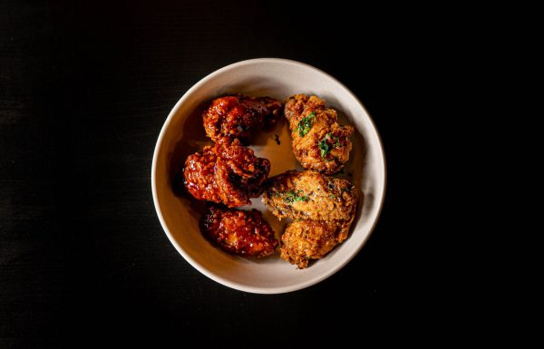 Two toned chicken wings crispy BBQ Ginger Pepper