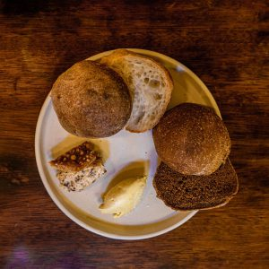 Sourdough and Malt Bread Batches with Spreadable Crackling and Brown Butter